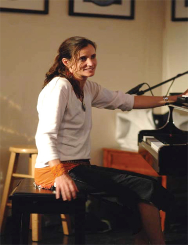 Molly Flannery with piano